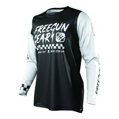 Maillot cross enfant Freegun Devo Speed noir