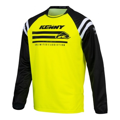 Maillot cross enfant Kenny Track Raw jaune fluo