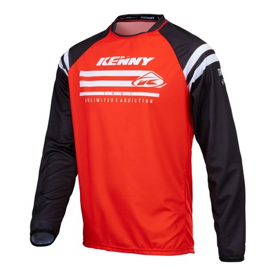 Maillot cross enfant Kenny Track Raw rouge