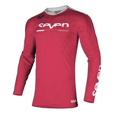 Maillot cross enfant Seven Rival Rampart rouge fluo