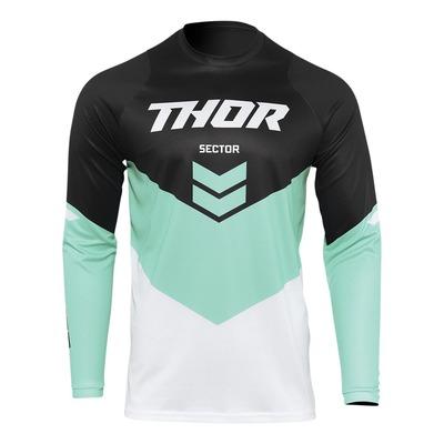Maillot cross enfant Thor Sector Chev noir/mint/blanc