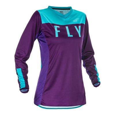 Maillot cross femme Fly Racing Lite violet/bleu
