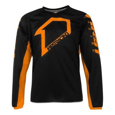 Maillot cross First Racing Corpo noir/orange