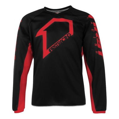 Maillot cross First Racing Corpo noir/rouge