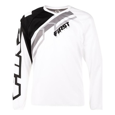 Maillot cross First Racing Stripes blanc