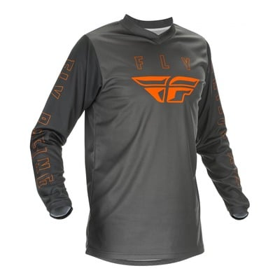 Maillot cross Fly Racing F-16 gris/orange