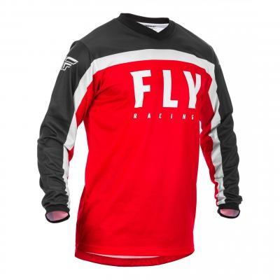 Maillot cross Fly Racing F-16 rouge/noir/blanc