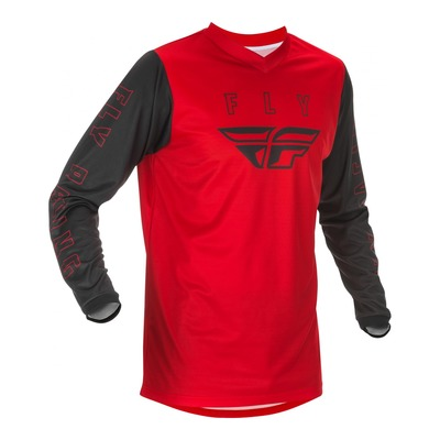 Maillot cross Fly Racing F-16 rouge/noir