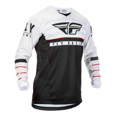 Maillot cross Fly Racing Kinetic K120 noir/blanc/rouge