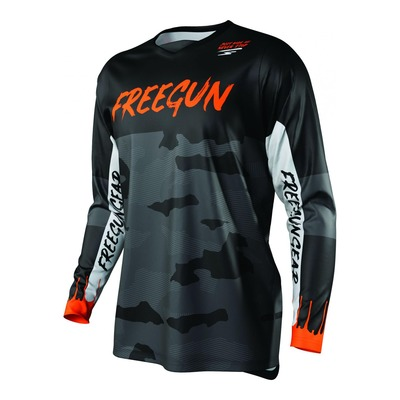 Maillot cross Freegun Devo Camo orange fluo