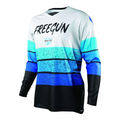 Maillot cross Freegun Devo Stripe bleu