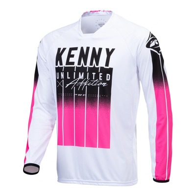 Maillot cross Kenny Performance Stripes noir/rose