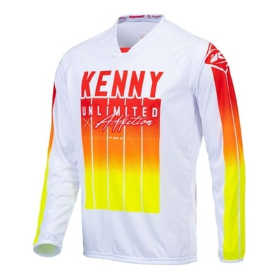 Maillot cross Kenny Performance Stripes rouge