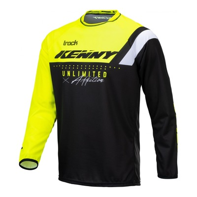 Maillot cross Kenny Track Focus jaune fluo