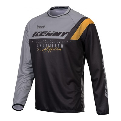 Maillot cross Kenny Track Focus noir/gris/or