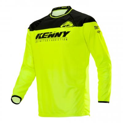 Maillot cross Kenny Track Raw jaune fluo