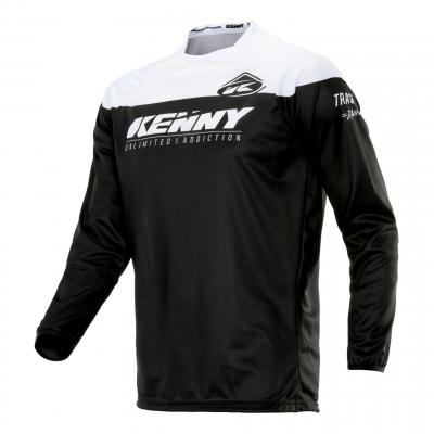 Maillot cross Kenny Track Raw noir/blanc
