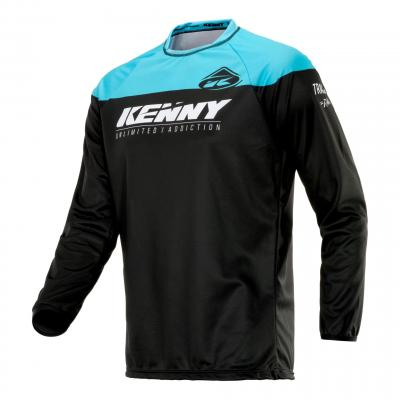 Maillot cross Kenny Track Raw noir/turquoise