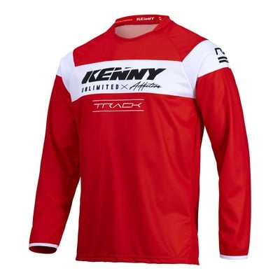 Maillot cross Kenny Track Raw rouge/blanc 2022
