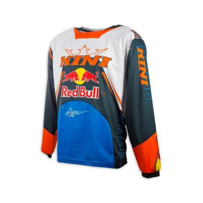 Maillot cross Kini Red Bull Competition bleu marine/orange