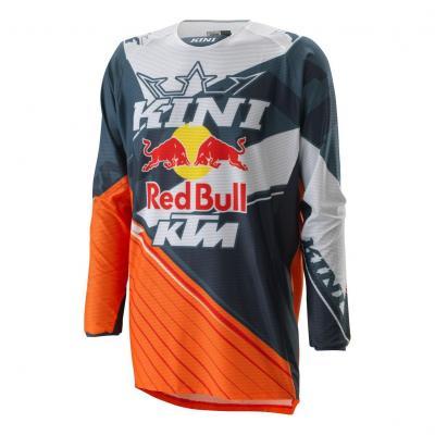 Maillot cross Kini Red Bull Compétition orange/blanc/gris