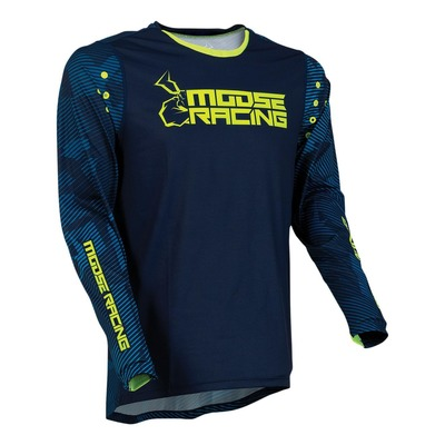 Maillot cross Moose Racing Agroid navy/hi-vis jaune fluo