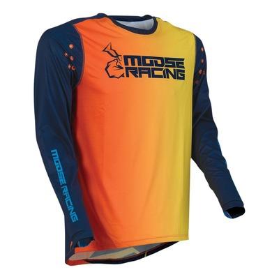 Maillot cross Moose Racing Agroid navy/orange