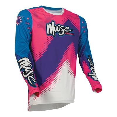 Maillot cross Moose Racing Agroid rose/bleu/violet