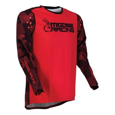 Maillot cross Moose Racing Agroid rouge/noir