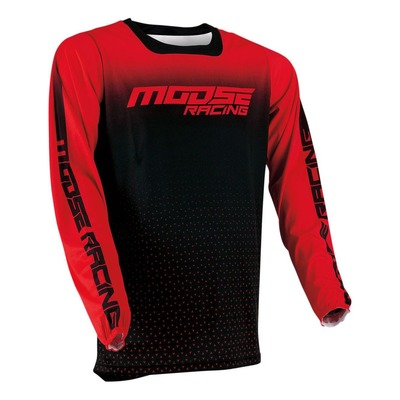 Maillot cross Moose Racing M1 rouge/noir