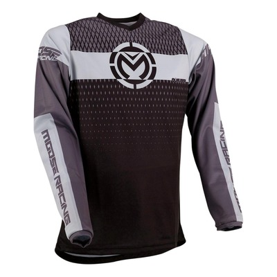 Maillot cross Moose Racing Qualifier noir/gris