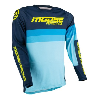 Maillot cross Moose Racing Sahara navy/bleu/hi-vis jaune fluo