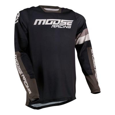 Maillot cross Moose Racing Sahara noir/vert kaki