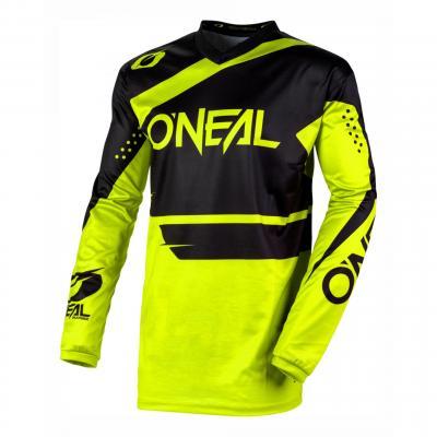 Maillot cross O'Neal Element Racewear noir/jaune fluo