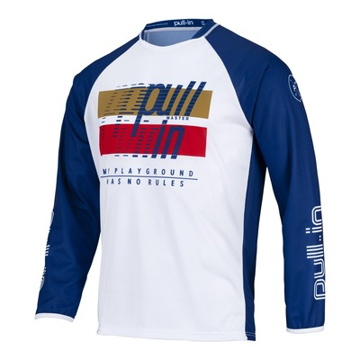Maillot cross Pull-in Challenger Master navy/blanc/rouge/or