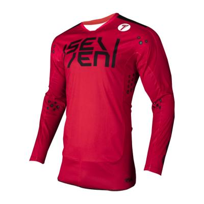 Maillot cross Seven Rival Biochemical rouge