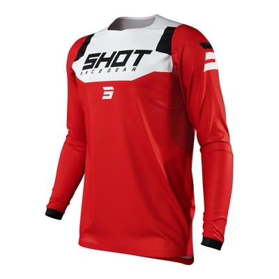 Maillot cross Shot Contact Chase rouge/blanc