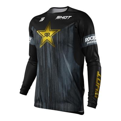 Maillot cross Shot Contact Replica Rockstar 2022 noir/gris/or