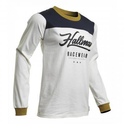 Maillot cross Thor Hallman GP Vintage blanc