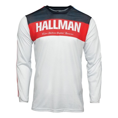 Maillot cross Thor Hallman Tapd Air rouge/blanc/bleu
