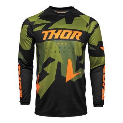 Maillot cross Thor Sector Warship vert/orange