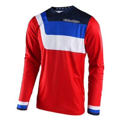 Maillot cross Troy Lee Designs GP Air Prisma rouge