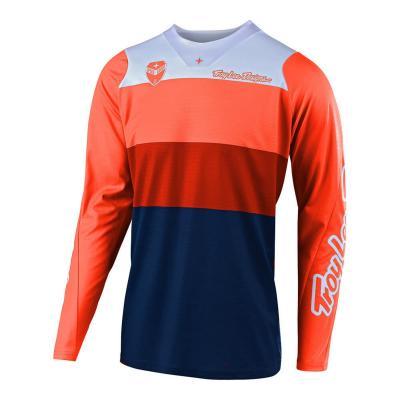Maillot cross Troy Lee Designs SE Beta orange/navy