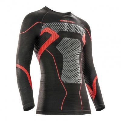 Maillot de protection Acerbis X-Body Winter Ls noir/rouge