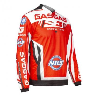 Maillot de trial S3 Gas Gas Team rouge/blanc