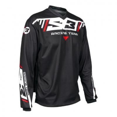 Maillot de trial S3 Racing Team noir/rouge/blanc