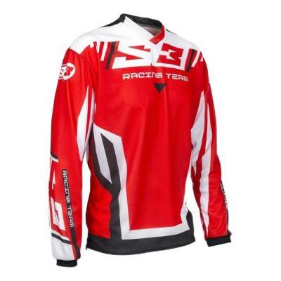 Maillot de trial S3 Racing Team rouge/noir/blanc