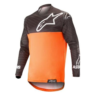 Maillot enduro Alpinestars Venture R noir/orange fluo