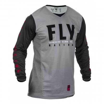 Maillot enduro Fly Racing Patrol gris/noir/rouge