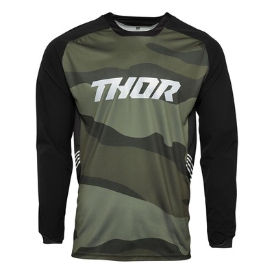 Maillot enduro Thor Terrain off road gear vert camouflage